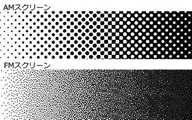 FM(frequency module)網点印刷のイメージ