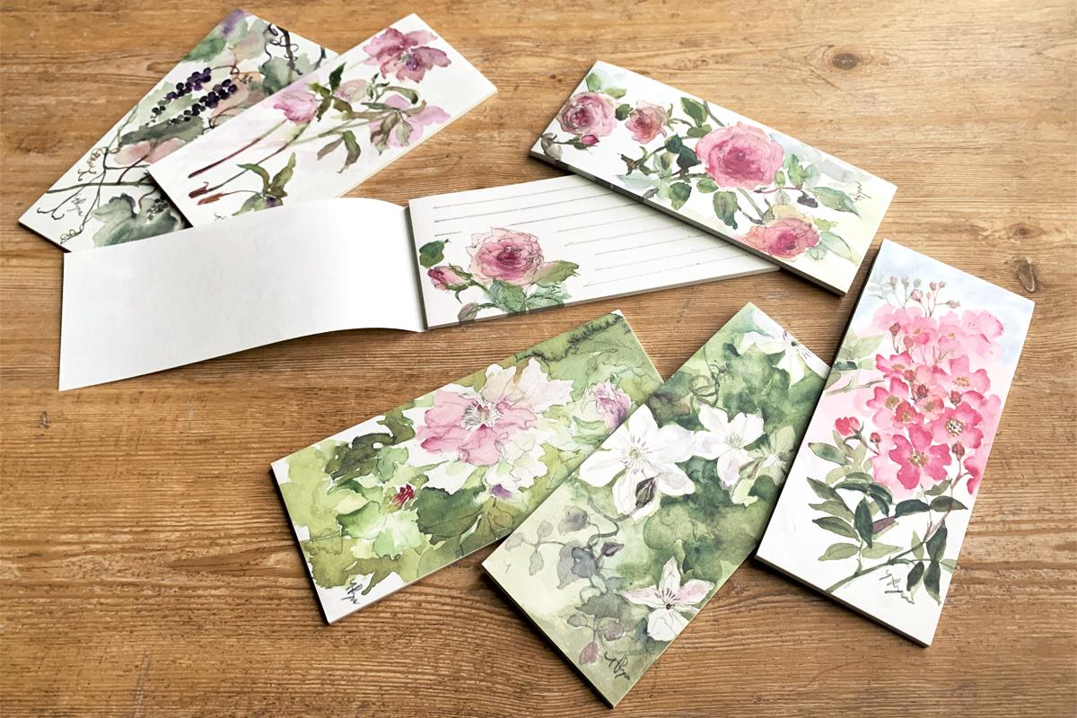 流郷由紀子『花々の一筆せん』全6種を販売開始いたしました!の画像